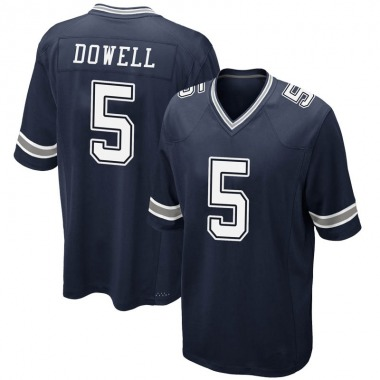 Men's Nike Dallas Cowboys Andrew Dowell Team Color Jersey - Navy Game