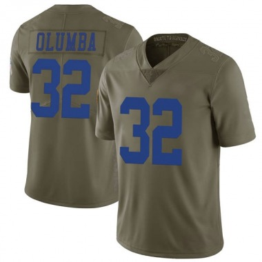 Men's Nike Dallas Cowboys Donovan Olumba 2017 Salute to Service Jersey - Green Limited