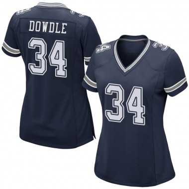 Women's Nike Dallas Cowboys Rico Dowdle Team Color Jersey - Navy Game