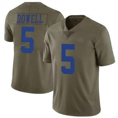 Youth Nike Dallas Cowboys Andrew Dowell 2017 Salute to Service Jersey - Green Limited