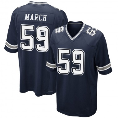 Youth Nike Dallas Cowboys Justin March-Lillard Team Color Jersey - Navy Game