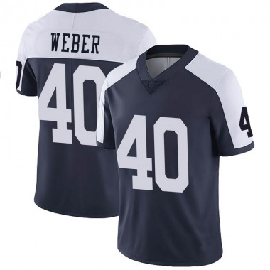 Youth Nike Dallas Cowboys Mike Weber Alternate Vapor Untouchable Jersey - Navy Limited